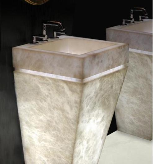 Muebles de alabastro. Lavabo.
