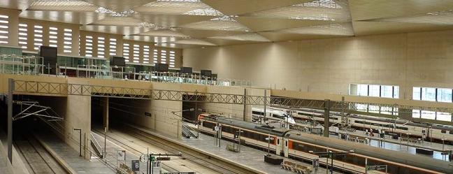 Alabastro de Aragón en la estación del AVE. Zaragoza Delicias.