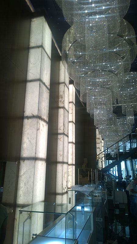Columnas de alabastro. Arastone.